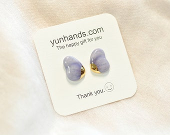 Purple Petal Butterfly Earring