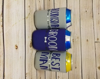 groomsmen gift wedding party can coolers / custom wedding party gifts / groomsmen gift idea / usher gifts / best man gifts / groom gift