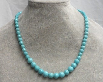 Turquoise Necklaces,Turquoise Pearl Necklace,One Strands Necklace,Wedding Jewelry, Necklace,Pearl Necklace,Bridesmaid Necklace