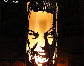 James Hetfield Beer Can Lantern: Metallica Pop Art Candle Lamp - Unique Gift!