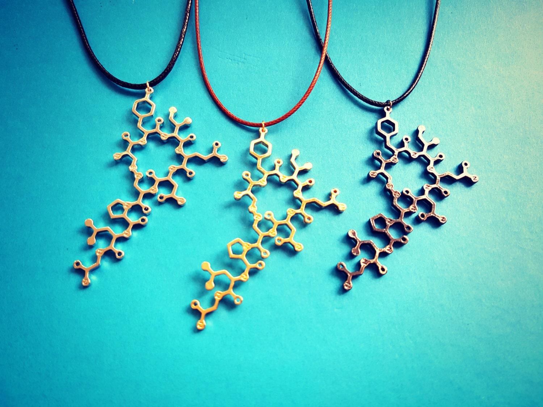 oxytocin molecule jewelry necklace earrings by