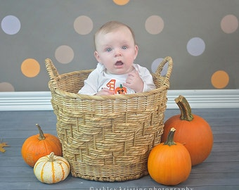 Fall Backdrop 4ft.x4ft. Polka Dots Vinyl Photography Backdrop - Fall Halloween Backdrops- Background - *Greyson's Dots*