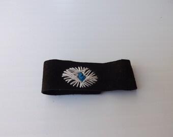 Blue eye - suede bracelet
