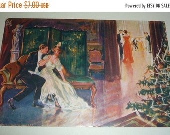 on sale Manheim Laundry Antique Advertising Christmas Postcard With 1912 Calendar