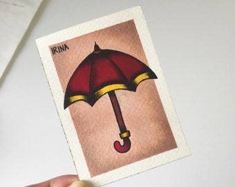 Umbrella Art Print - Tattoo Art
