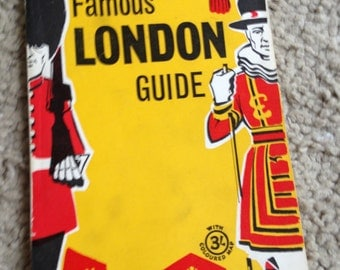 Vintage Guide Book 1950-1960s Geographers' Famous Guide To London, England/UK with Illustrations/Photos/Maps