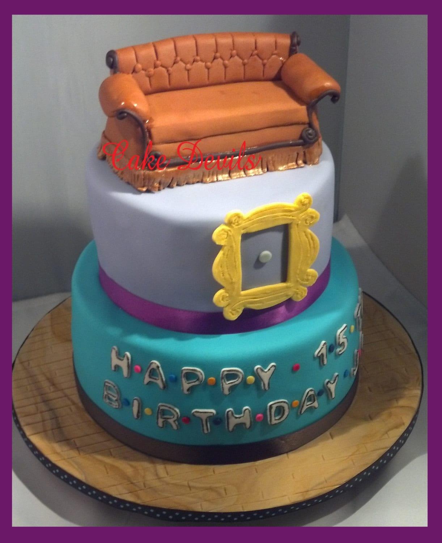 Fondant Cake Decorations Uk : Friends Couch Cake Topper Kit Fondant Handmade Edible