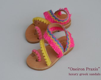 "Girls boho sandals""baby Dafni""-Girls Leather Sandals- Leather sandals for girls-Girls boho Shoes-baby sandals"