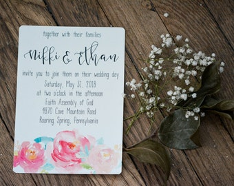 FLORAL|Wedding Invitation Set #57