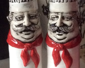 Chef Salt and pepper shakers