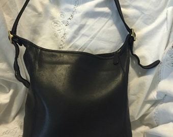 Coach black leather bag FREE SHIPPING