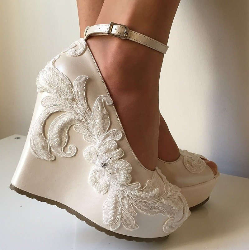 Wedding Wedding Wedge Shoes Bridal Wedge ShoesBridal