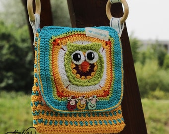 Boho Messenger Bag - Owl Shoulder Bag - Kindle Shoulder Pouch