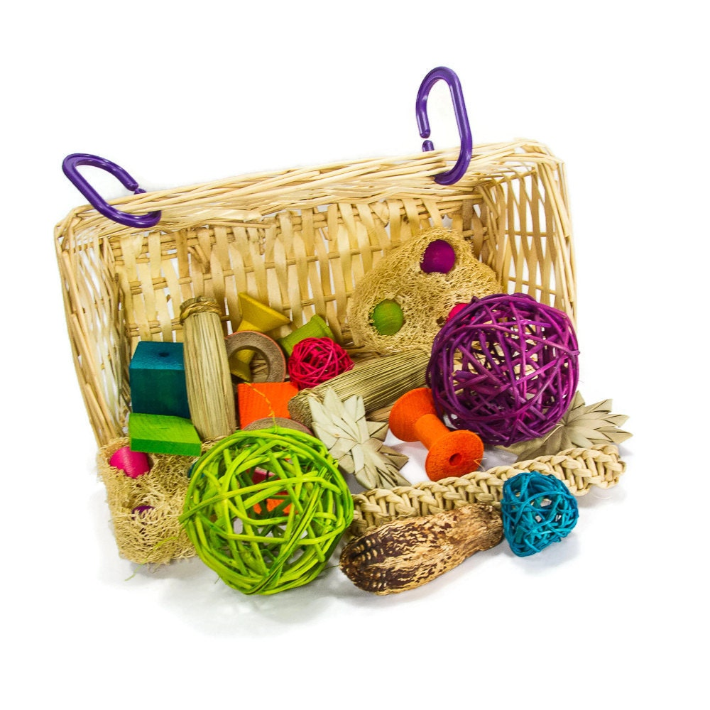Toys For Bunnies : Basket of chew toys bunny rabbit guinea pig chinchilla