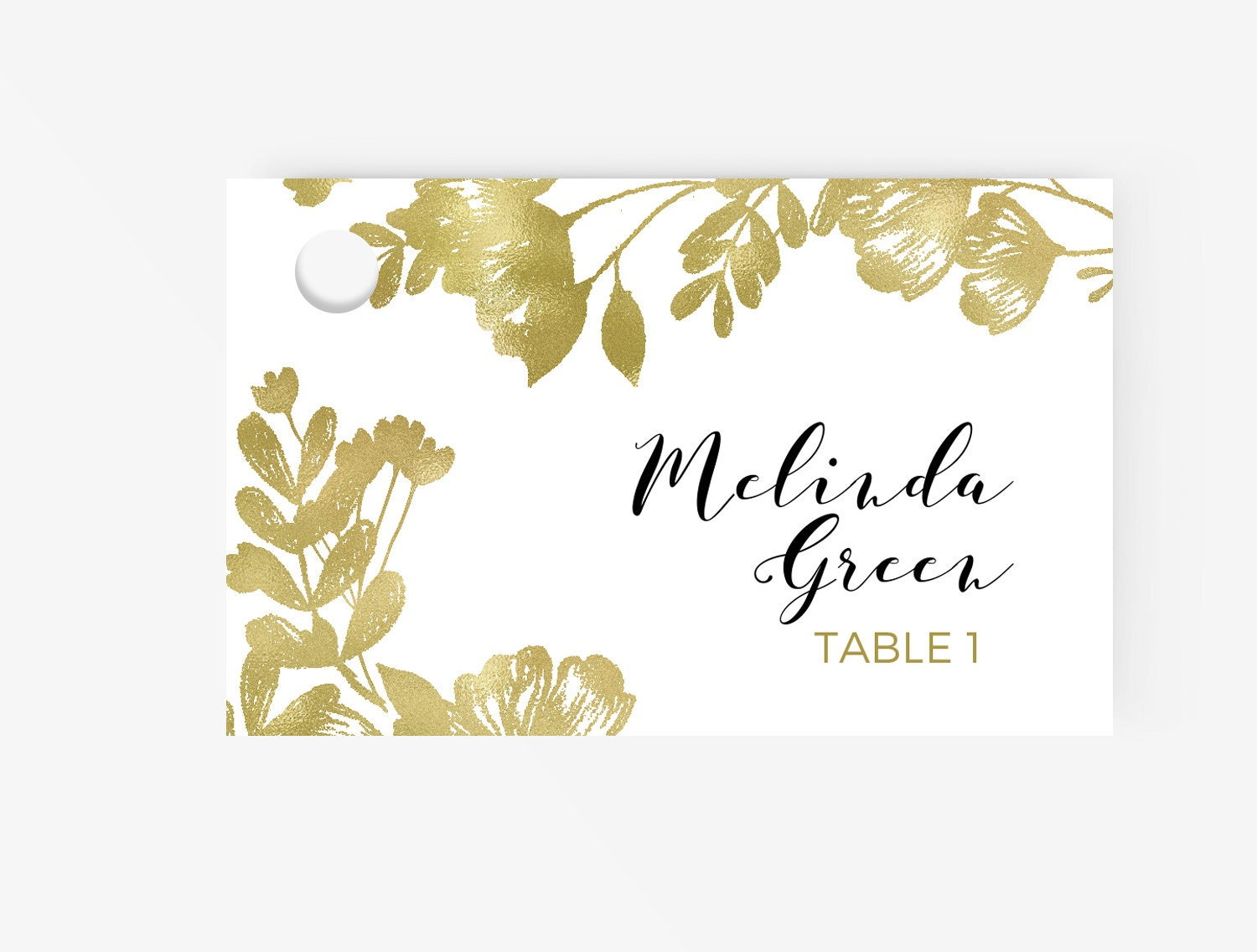 place card template escort word tent card and flat card