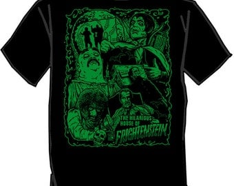 HILARIOUS HOUSE of FRIGHTENSTEIN silk screened t-shirt Horror