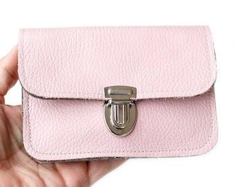 Wallet leather & felt