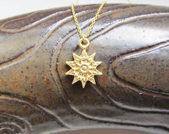Gold sunburst necklace,sunburst necklace,sun necklace,gold necklace