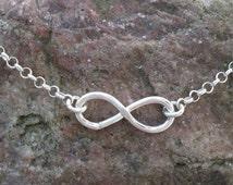 Petite sterling silver eternity bracelet