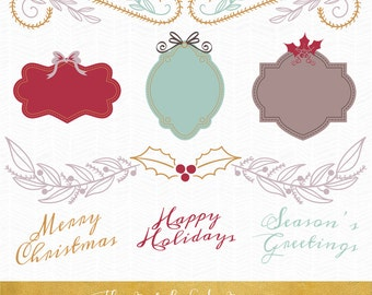 Christmas and Seasonal Clipart - INSTANT DOWNLOAD - .PNG Files