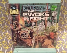 Sealed Ewoks Join the Fight Book and Record Vinyl Album  Star Wars Return of the Jedi George Lucas