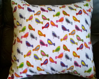 "Sweet Tweet by Alexander Henry cushion cover 16 "" × 16 "" Multicoloured Birds"