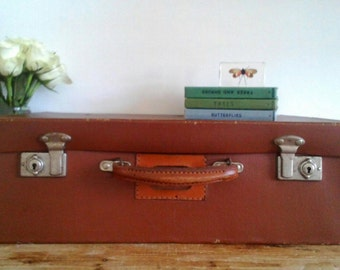 Vintage Suitcase with Royal Mail Emblem / Crest