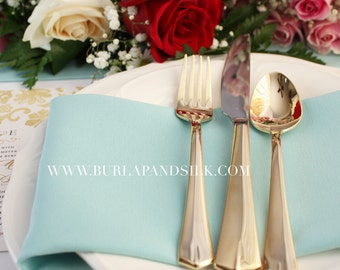 Aqua Spa Napkins 12-pack 20 x 20 inches | Wholesale Cloth Napkins, Wedding Table Decor