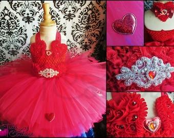 Valentine tutu dress/red Valentine tutu dress/Valentine dress/red tutu dress