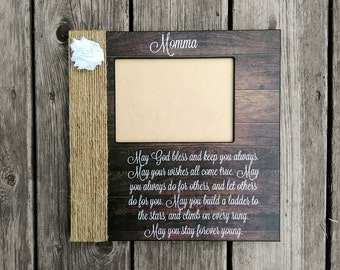 Personalized Wedding Song Lyric Picture Frame | Mother Son Picture Frame | Forever Young Lyric Frame | Personalized Mother's Day Gift
