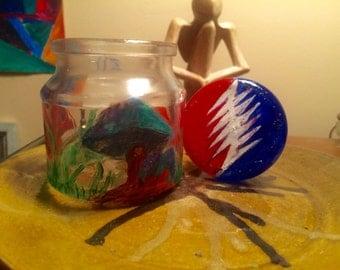 Painted Stash Jar