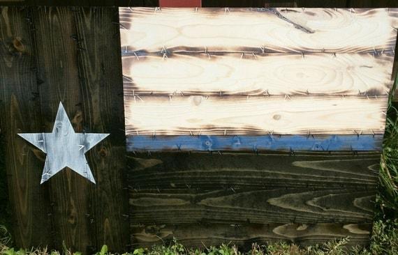 Medium Thin Blue/Red Line Texas Flag