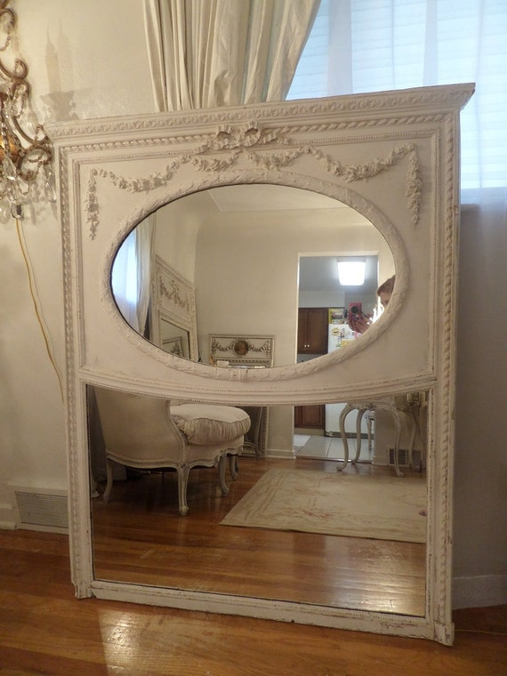 Stunning Antique Large French Trumeau Mirror By Thequeensstuff