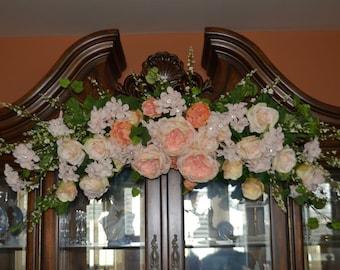 Wedding Arch, Wedding Ceremony Arch, Wedding Archway, Rose Arch, Coral Arch, Rhinestone Decor