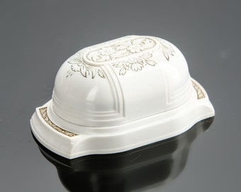 Art Deco ivory color Celluloid plastic ring box for wedding set