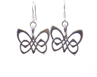 Earrings, butterfly earrings, Irish earrings, dangle earrings, animal earrings, animal jewelry, butterfly jewelry, gift for her, drop ears