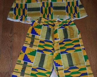 African Girl's Pant Set