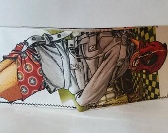 deadpool a1 - recycled comic book wallet - slim wallet - hanmade wallet - card holder - thin wallet - vinyl wallet - men's wallet