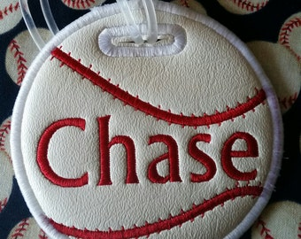 Personalized Baseball bag tag