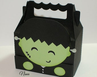 SM Frankenstein #2 Halloween Treat Box Sets-Treat Box Sets-Treat Boxes-Halloween Favor Boxes-Classroom Party Boxes-Gift Boxes