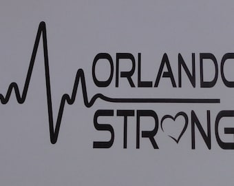 Orlando Strong Vinyl Decal