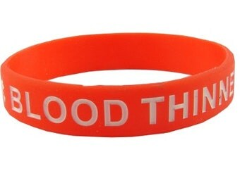 Blood Thinners Silicone Medical Bracelet