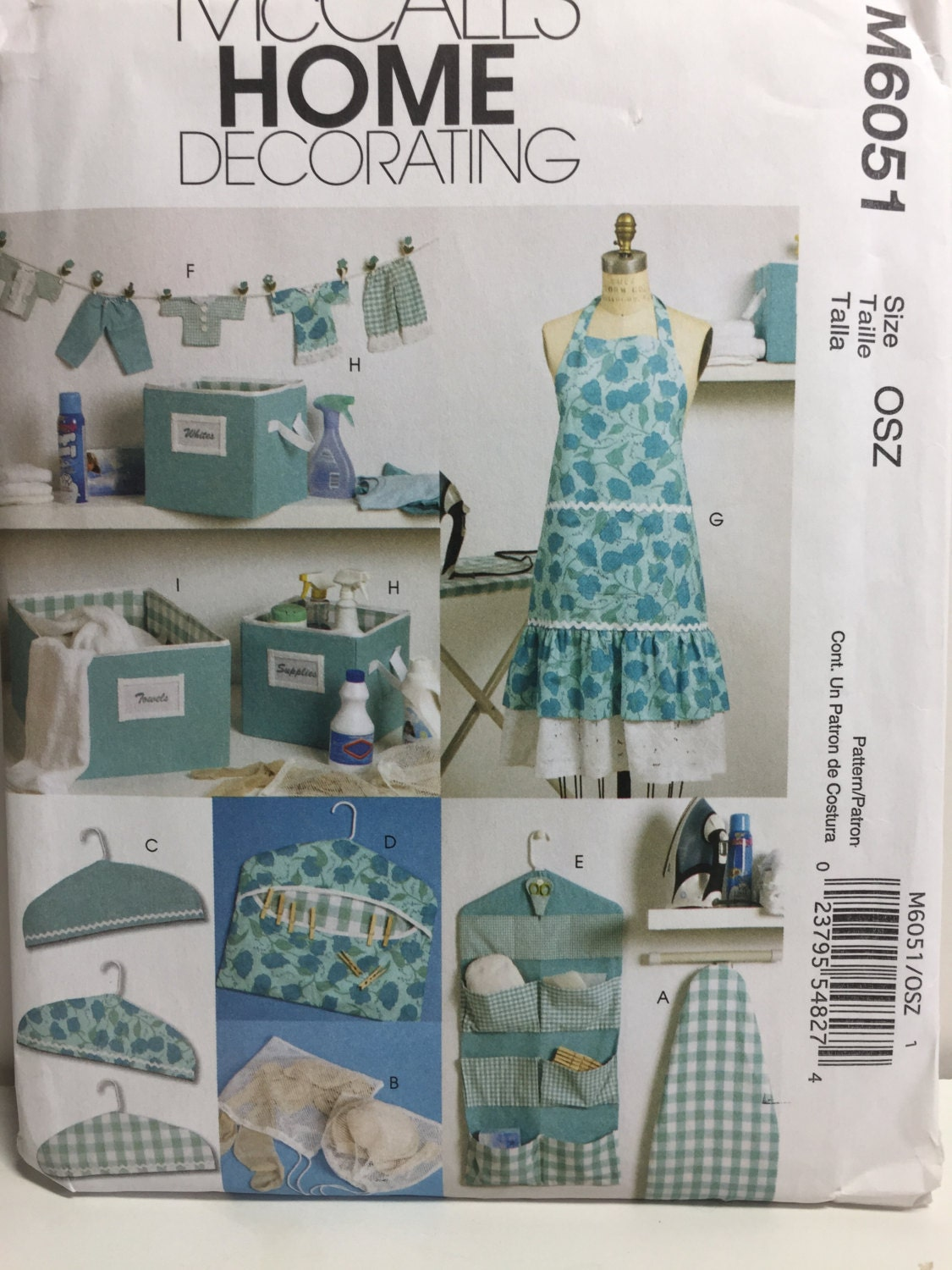 Mccall 39 S 6051 Home Decorating Sewing Pattern Apron Hanger