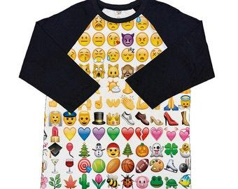 Emoji Shirt_3/4 Sleeve Raglan shirt_Choose our design or submit your own image