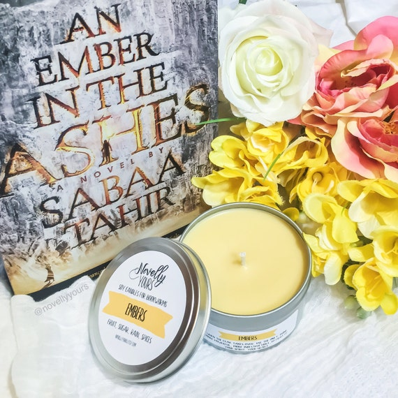 Embers | 8oz tin | An Ember in the Ashes, Elias, Laia Inspired Soy Candle