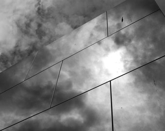Take me into the clouds - black and white photography print