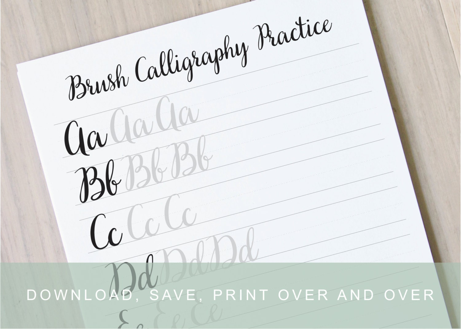 Brush lettering worksheets calligraphy tutorial alphabet Calligraphy tutorial