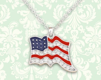 American Flag Necklace - 48088