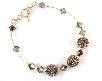Black Diamond Shamballa Bracelet