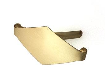 Diamond Brass Barrette
